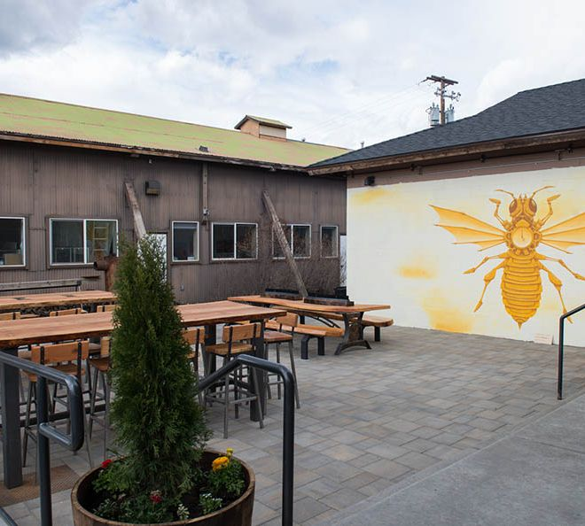 Patio at Bevel Craft Brewing