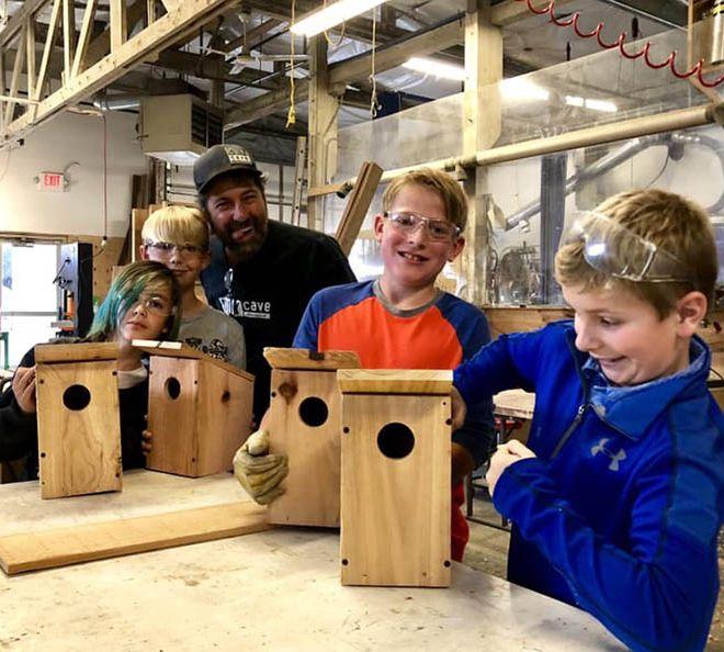 birdhouse class at DIYcave