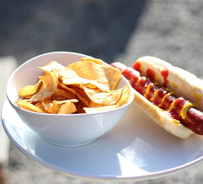 Hot dogs from The Grill at 9th Street Village