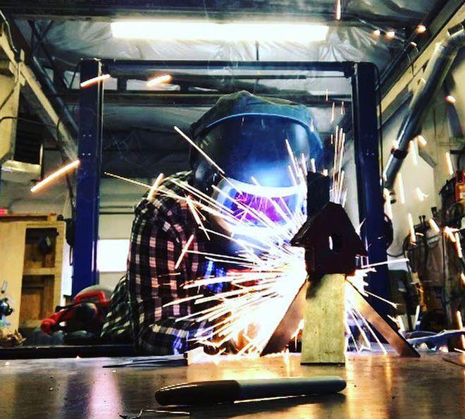 welding class at DIYcave